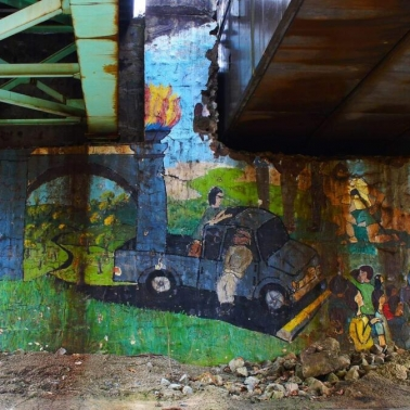 Mural Under the Bridge. Photograph by Derrick Keeton. **Selected for the My Missouri 2021 exhibition**