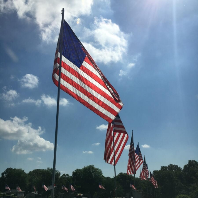 Memorial Day, Blue Spring Cemetery. Photograph by Sarah Poff.