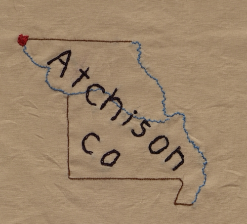 Atchison County - Created by Regina Marie Holtmeier. **Selected for the Missouri Bicentennial Quilt**