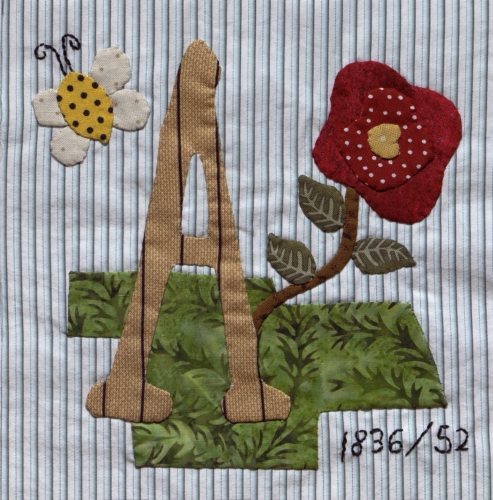 Prairie Rose - Quilted by Susan Gail Masulit. **Selected for the Missouri Bicentennial Quilt**