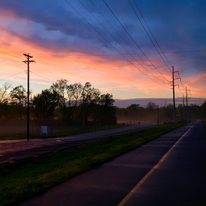 Foggy Sunset. Photograph by Ethan Barrera. **Selected for the My Missouri 2021 exhibition**