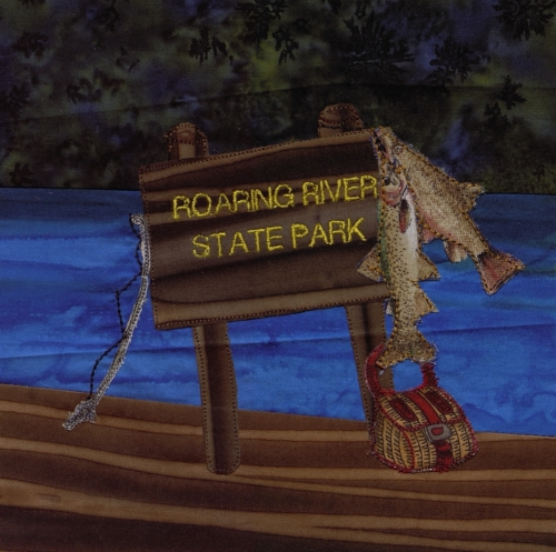 Roaring River - Created by Vickie Clancy. **Selected for the Missouri Bicentennial Quilt**