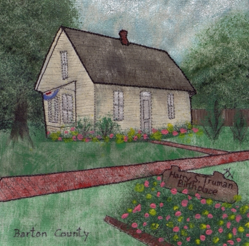 Truman's Birthplace - Created by Karen O'Sullivan Wegener. **Selected for the Missouri Bicentennial Quilt**
