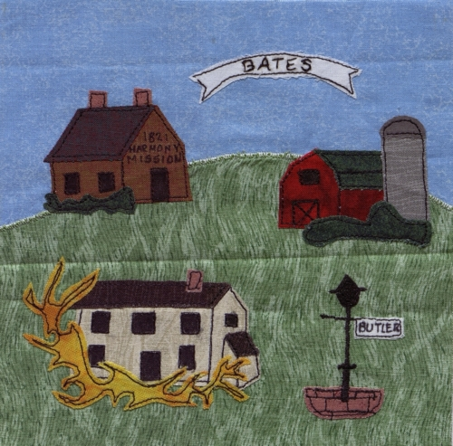 Bates History - Created by Sandee S. Hubbard. **Selected for the Missouri Bicentennial Quilt**