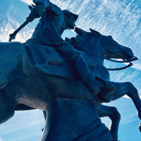 Pony Express Rider Statue