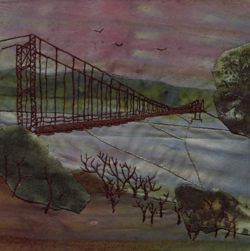 Swinging Bridge - Created by Valorie L. Fauquier. **Selected for the Missouri Bicentennial Quilt**
