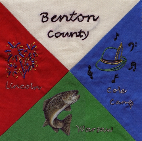 Fun in Benton County - Quilted by Karen E. Oelrichs.