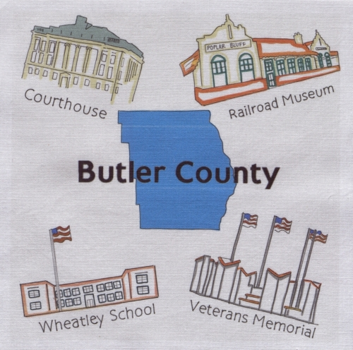 Historical Sites of Butler County - Created by the First Baptist Church Missionary Quilters. **Selected for the Missouri Bicentennial Quilt**