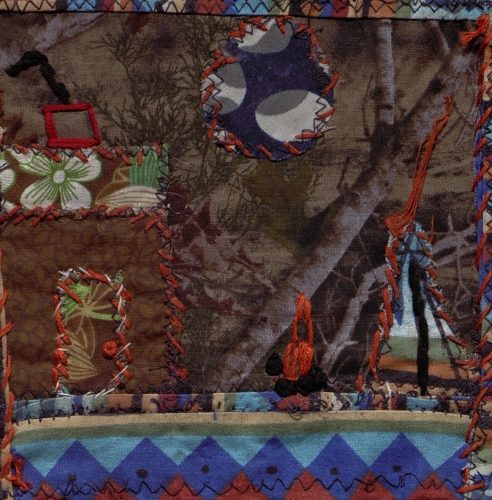 Native Americans and Settlers - Created by Gayle A. Dugan. **Selected for the Missouri Bicentennial Quilt**