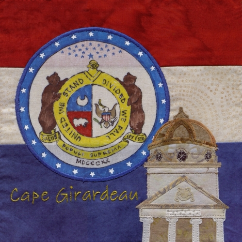 Missouri Flag - Created by Robyn Gragg. **Selected for the Missouri Bicentennial Quilt**