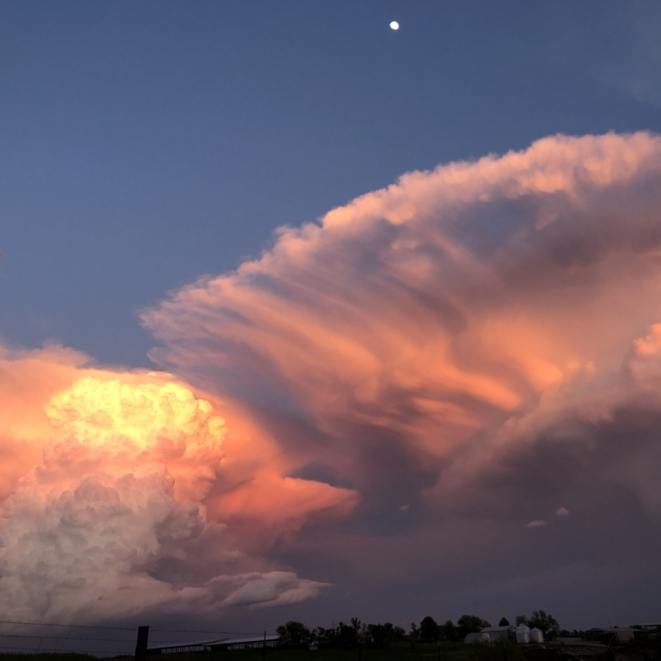 Moon Over Fan Cloud. Photograph by Charlotte Carpenter.