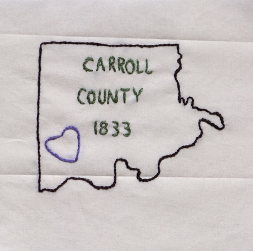 Carroll County - Created by Marty K. Tayon. **Selected for the Missouri Bicentennial Quilt**
