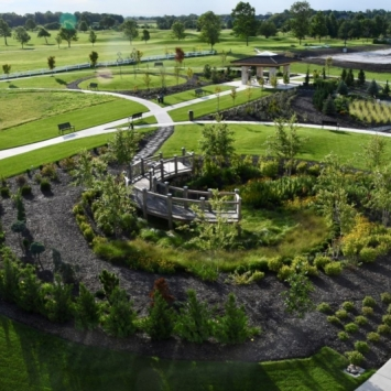The Gardens at Hedrick Medical Center. Photograph by Lindy Chapman.
