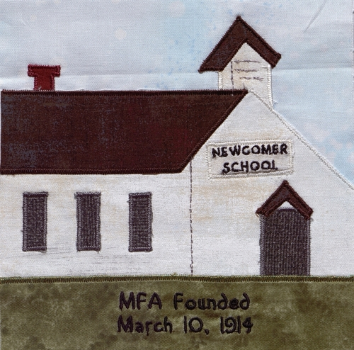 Newcomer School - Created by Donna Beth McAdams. **Selected for the Missouri Bicentennial Quilt**