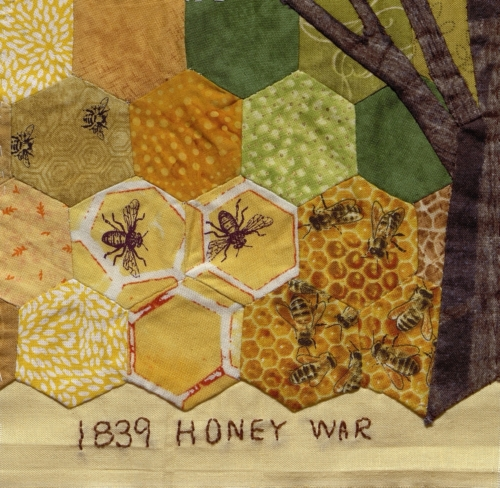 1839 Honey War - Created by Susan Delia Inman. **Selected for the Missouri Bicentennial Quilt**
