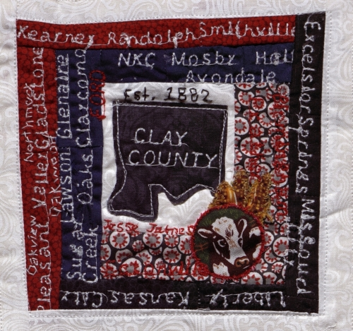 Clay County - Created by Audrey Lammers, submitted by Clay County Historic Sites. **Selected for the Missouri Bicentennial Quilt**