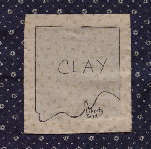 Clay County - Quilted by Jean Warren, submitted by Clay County Historic Sites.