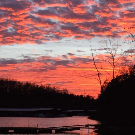 Sunset on The Pomme. Photograph by Rebecca Conway.