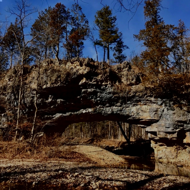 Clifty Creek Natural Bridge. Photograph by Tom Corey.