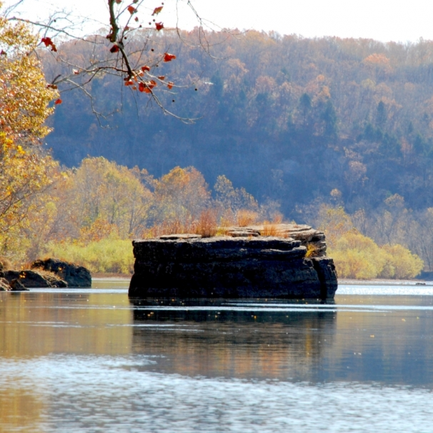 Thox Rock on the Gasconade River. Photograph by Tom Corey.
