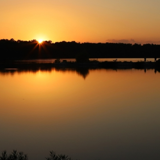 Sunset Fishing on Little Dixie Lake. Photograph by Sue Crane.