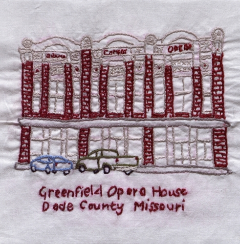 Opera House - Created by the Arcola Quilting Club. **Selected for the Missouri Bicentennial Quilt**