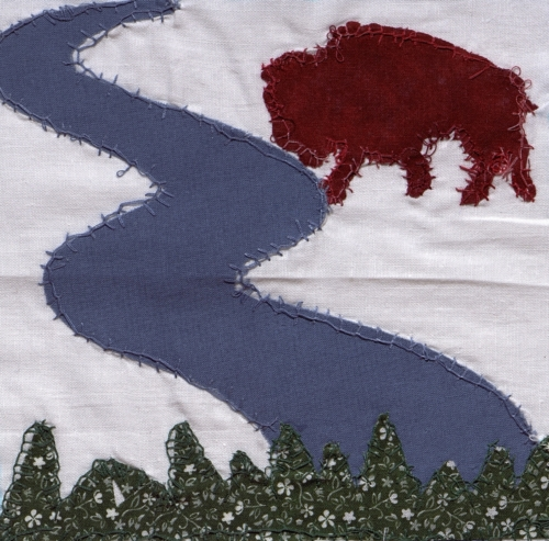 Buffalo Head Prairie - Quilted by Maulene K. Sperko.