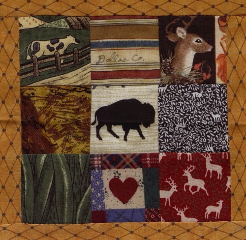 9 Patch - Quilted by Edna (Von) Evon Strickland. **Selected for the Missouri Bicentennial Quilt**