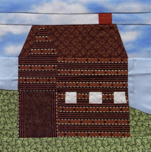 1847 Log Courthouse - Created by Barbara Conway Owen. **Selected for the Missouri Bicentennial Quilt**