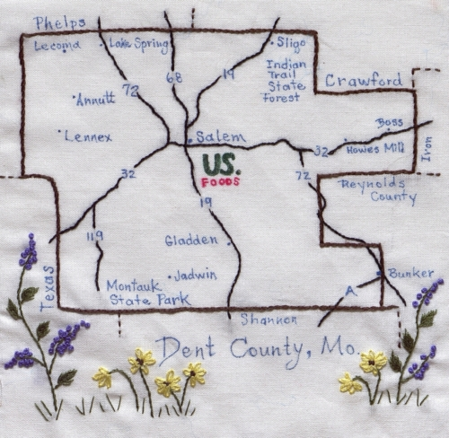 Dent County - Created by Brenda J. Morton. **Selected for the Missouri Bicentennial Quilt**