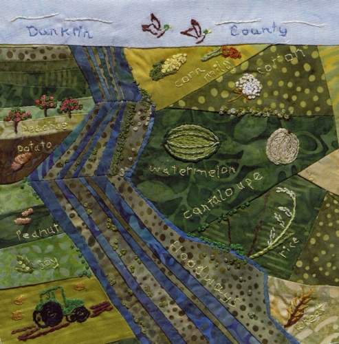 Dunklin County - Created by Virginia Lee Smith. **Selected for the Missouri Bicentennial Quilt**