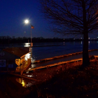 Moon Rise Over the Missouri River