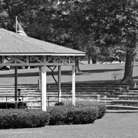 Bandstand. Photograph by Karen Gallaher.