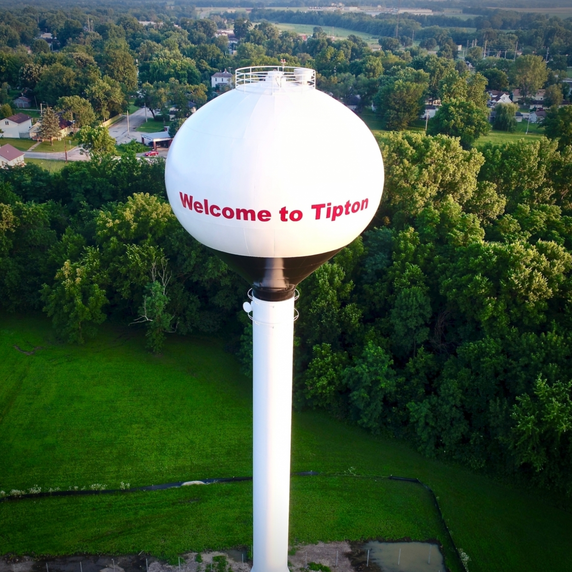 Tipton Water Tower. Photograph by Steve Garber.