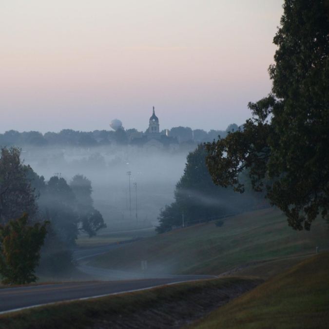 Mount Vernon in the Fog. Photograph by Cynthia Garringer. **Selected for the My Missouri 2021 exhibition**