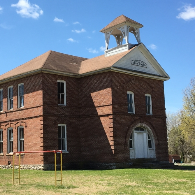 Stotts City Schoolhouse. Photograph by Cynthia Garringer.