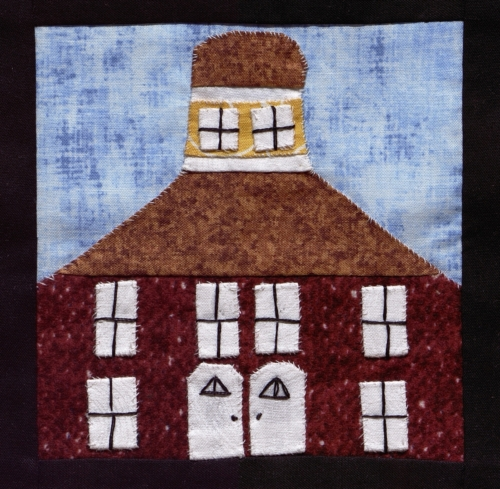 Gasconade County Courthouse - Quilted by Pamela Ruth Marriott.