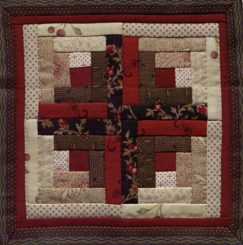 Log Cabin - Quilted by Juanita Marie Bridges. **Selected for the Missouri Bicentennial Quilt**