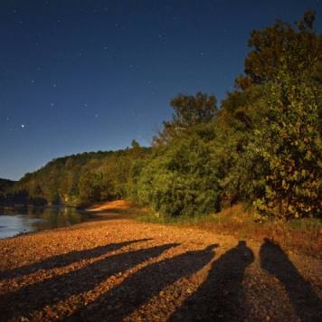 Meramec River by Moonlight. Photograph by Lloyd Grotjan. **Selected for the My Missouri 2021 exhibition**