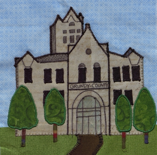 County Courthouse - Created by Marie A. Boyle. **Selected for the Missouri Bicentennial Quilt**