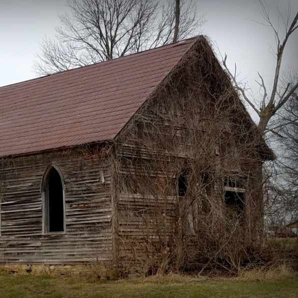 Timber Hill Baptist Church. Photograph by Larry Hacker.