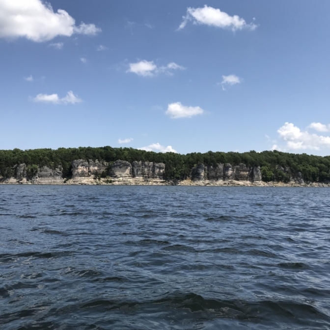 Truman Lake Cliffs. Photograph by Lauren Hare.