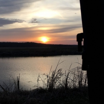 Sunset On The Ole Pond. Photograph by Helen Harkins.