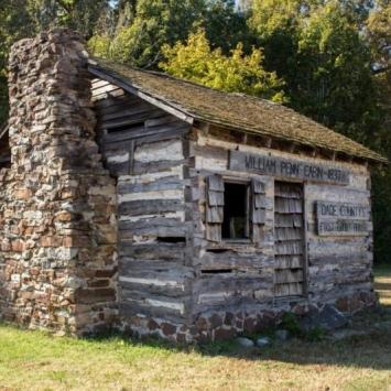 William Penn Cabin. Photograph by Carla Hayes.