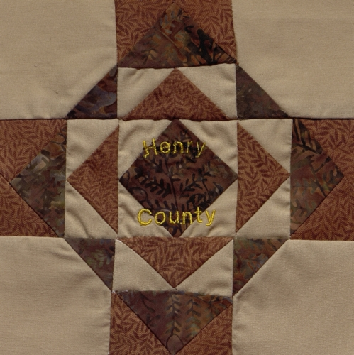 9 Patch Frame - Quilted by Donna Claire Brinker. **Selected for the Missouri Bicentennial Quilt**