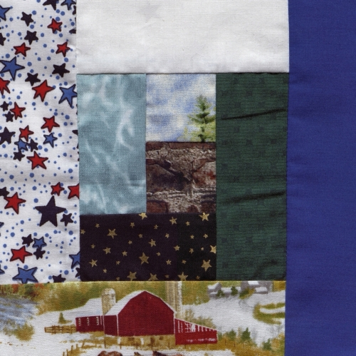 Mother of Counties Log Cabin - Quilted by Patricia Hilgedick.