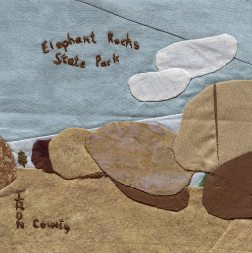 Elephant Rocks State Park - Created by Ann Shelby Tripp. **Selected for the Missouri Bicentennial Quilt**
