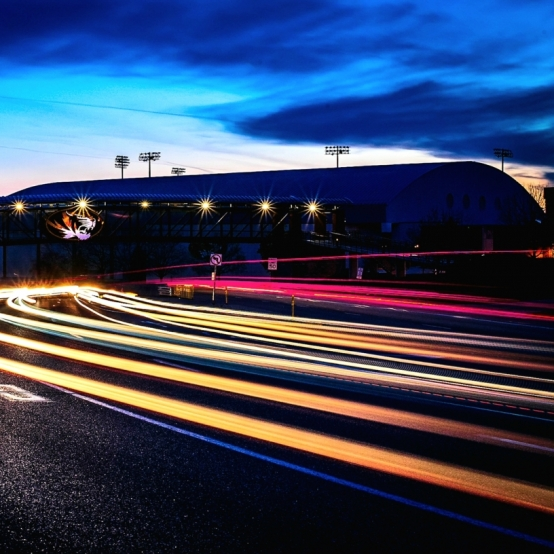 Faurot Night Lights. Photograph by Kristen Jackson. **Selected for the My Missouri 2021 exhibition**