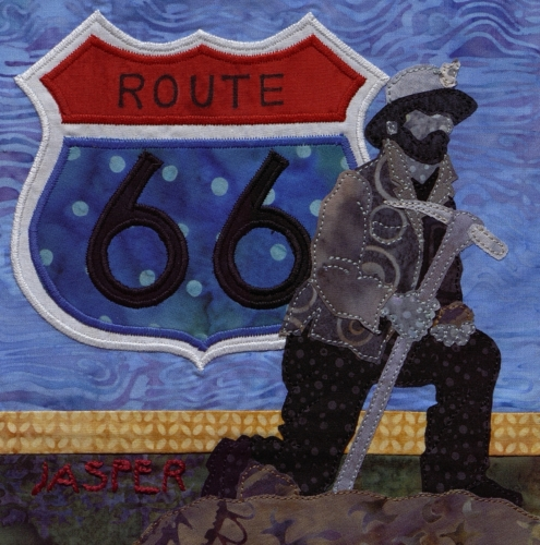 The 66 Miner - Created by Robyn Gragg. **Selected for the Missouri Bicentennial Quilt**