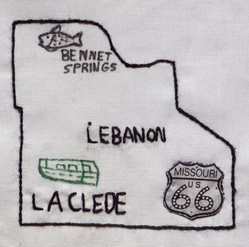 Lebanon-Laclede County - Created by Happy Quilters. **Selected for the Missouri Bicentennial Quilt**